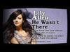 Lily Allen - He Wasn't There